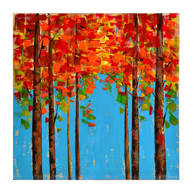 Colorful Trees I Canvas Art Print