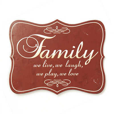 We Are Family Tin Plaque