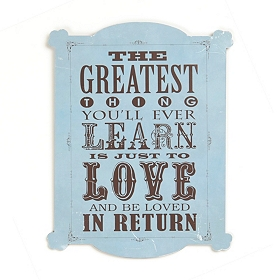 Love and Be Loved Tin Plaque