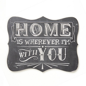 Wherever I'm With You Tin Plaque