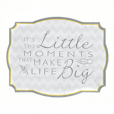 It's The Little Moments Tin Plaque
