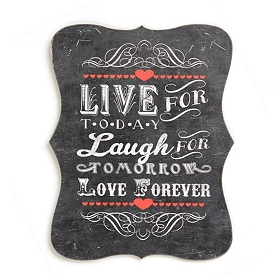 Live, Laugh, Love Tin Plaque