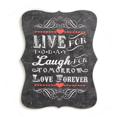 Live, Laugh, Love Tin Plaque
