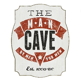 Man Cave Tin Plaque