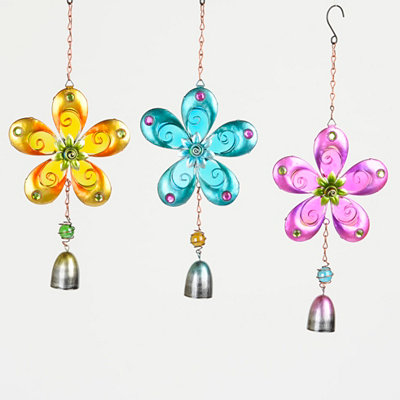 Metal Flower Wind Chimes