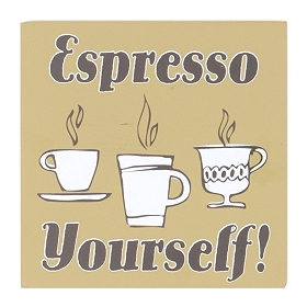 Espresso Yourself Word Block