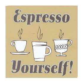 Espresso Yourself Word Block