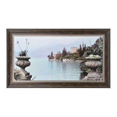 Lakeside Urns Framed Art Print