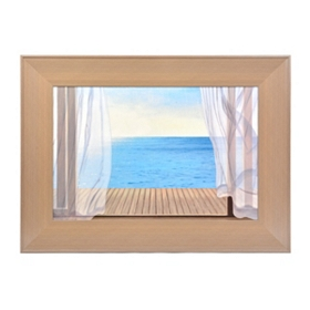 Blue Breeze Framed Art Print
