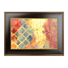 Global Edge Framed Art Print