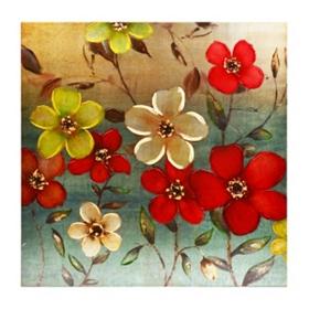 Dancing Florals Canvas Art Print