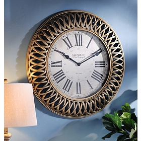 Golden Weave Clock