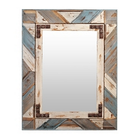 Colby Distressed Wooden Framed Mirror, 27x35