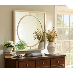Ivory Inner Circle Decorative Mirror