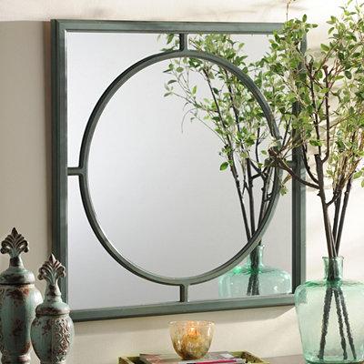 Green Inner Circle Mirror