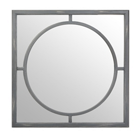 Gray Inner Circle Decorative Mirror