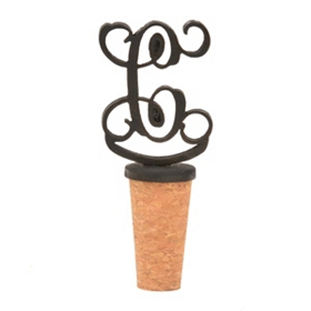 Metal Monogram C Bottle Stopper