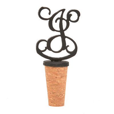 Metal Monogram I Bottle Stopper