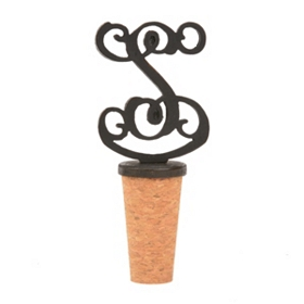 Metal Monogram S Bottle Stopper