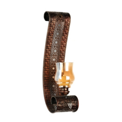 Amber Luster Lacework Wall Sconce