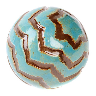Blue Tiger Stripe Ceramic Orb