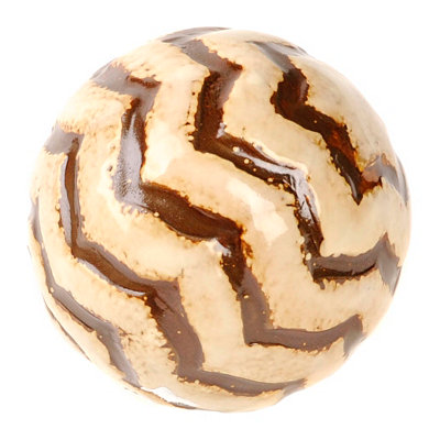 White Tiger Stripe Ceramic Orb