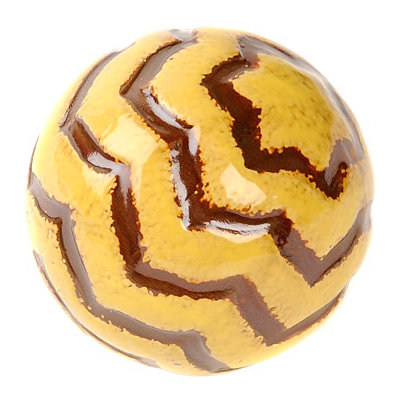 Yellow Tiger Stripe Ceramic Orb