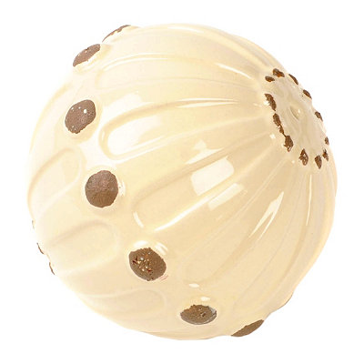 White Hobnail Ceramic Orb