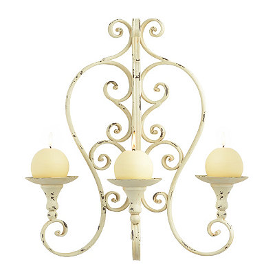 Isabelline Cream Triple Pillar Sconce
