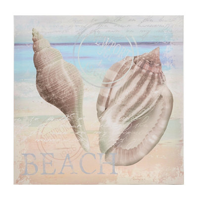Seashell Postcard I Canvas Art Print
