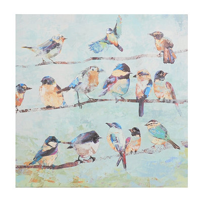 Birds on a Wire I Canvas Art Print