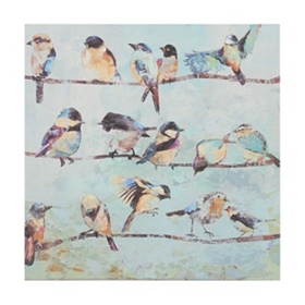 Birds on a Wire II Canvas Art Print