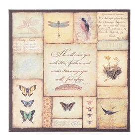 Butterfly Sentiment I Canvas Art Print