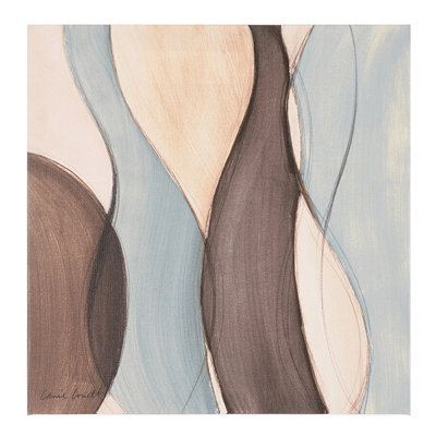 Coalescence of Blue and Brown I Canvas Art Print