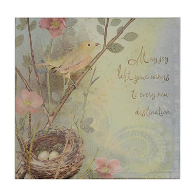 Bird's Nest Sentiment I Canvas Art Print