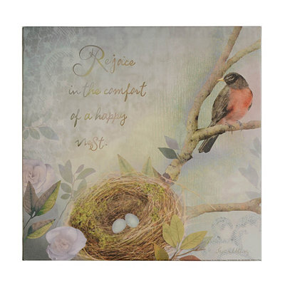 Bird's Nest Sentiment III Canvas Art Print