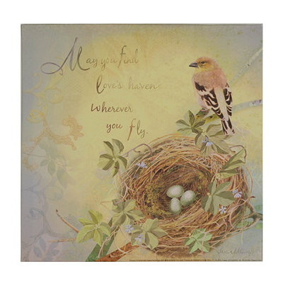 Bird's Nest Sentiment IV Canvas Art Print