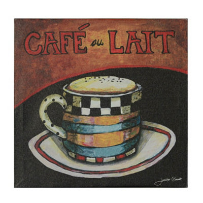 Café au Lait Canvas Art Print