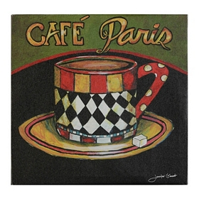 Cafe Paris Canvas Art Print