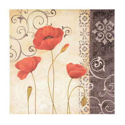 Vintage Red Poppies II Canvas Art Print
