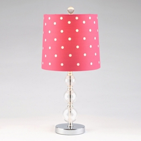 Hot Pink Polka Dot Table Lamp