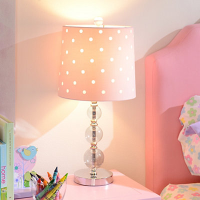 Pink Polka Dot Table Lamp