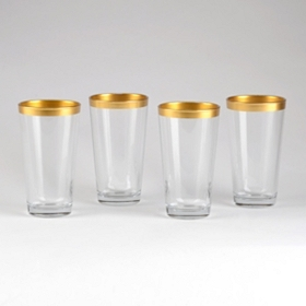Gold Band Cooler Glasses, Set of 4