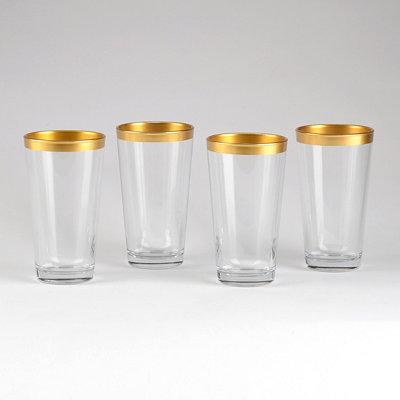 Gold Band Cooler Glasses, Set of 4