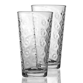 Waving Bubbles Cooler Glasses, Set of 4