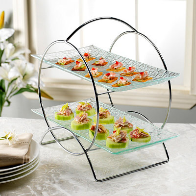 Carnegie 2-Tier Serving Set