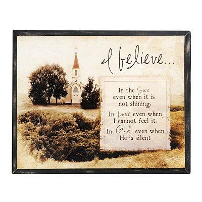 I Believe Plaque