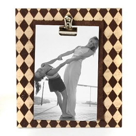 Brown Harlequin Clip Photo Stand