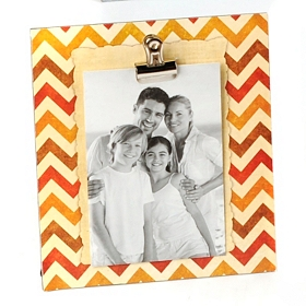 Natural Colors Chevron Clip Photo Stand