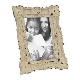 Ornate White Vintage Picture Frame, 4x6